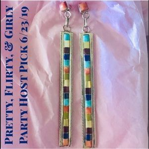 HP💕Navajo Multi-stone Sterling Silver Earrings